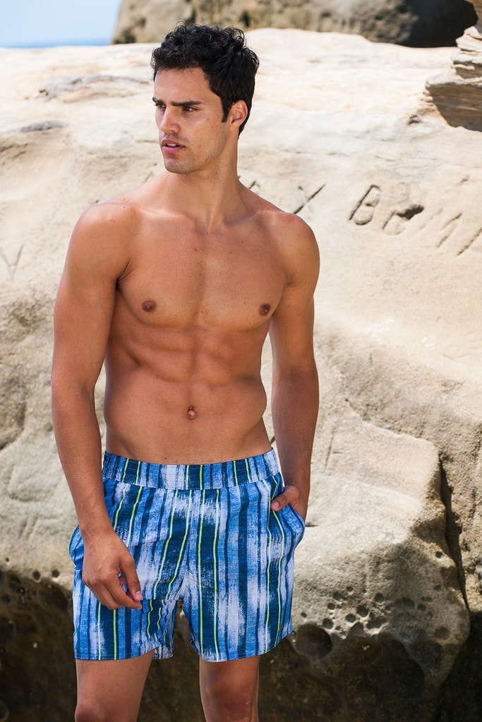 Sauvage Swimwear Royal Stripe Swimmer - European Beach Shorts