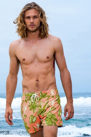 Mens Designer Surf Shorts - Hawaiin