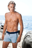 Sauvage Mens Swimwear - Blue Stripes