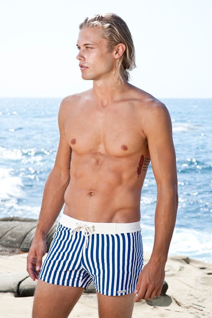 Sauvage Mens Swim Trunks - Blue