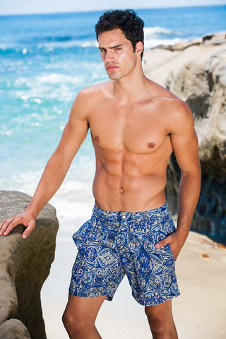 Sauvage Swimwear Paisley Shorts