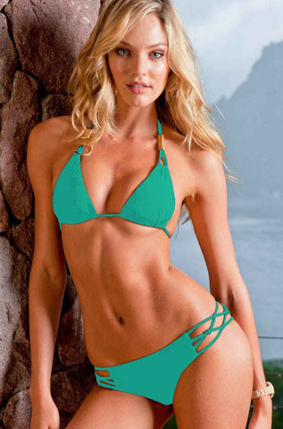 Sauvage Swimwear Spider Bikini - Jade Green