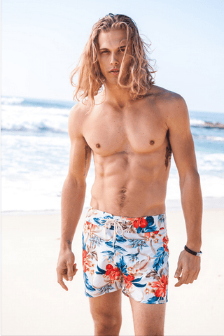 Sauvage Swimwear - White Floral Shorts