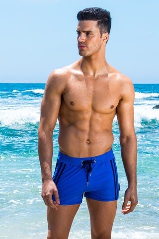 Sauvage Two-Tone Swim Trunk - Blue
