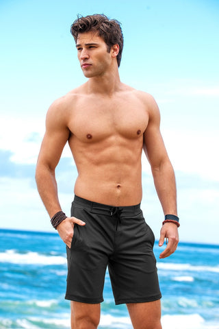 Sauvage Workout Surf Shorts - Black