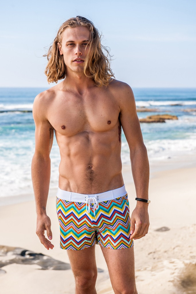 Sauvage Mens Swimwear - Zig Zag Pattern