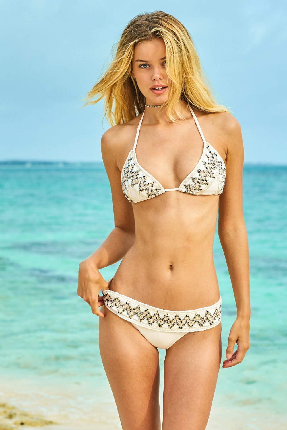 c391724678 Tribal Glitter Bikini Set in Cream