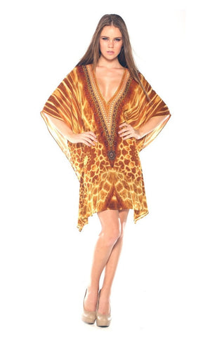 Shahida parides luxury safari print cover up