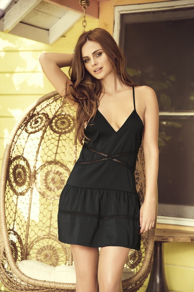loose fit black dress