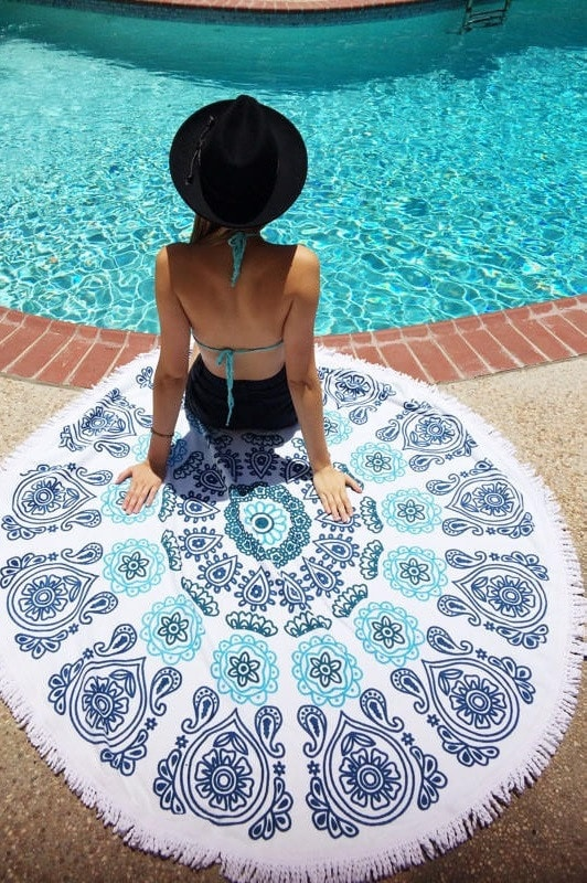 Slippa Moana Beach Towel | Round Towels