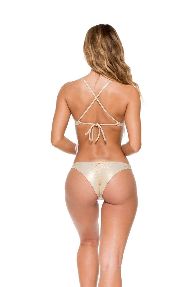 ruched back brazilian bikini