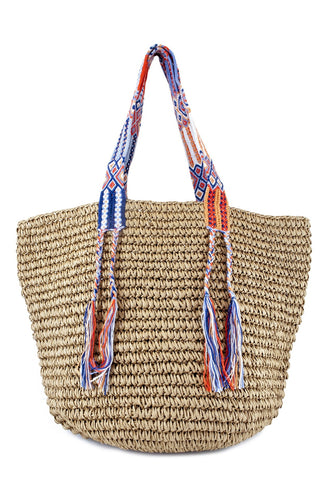 Straw Beach Bag by Fallon + Royce