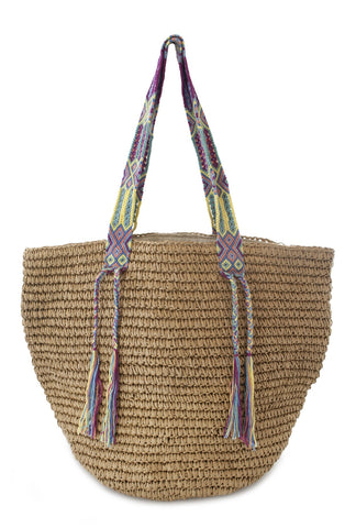 Straw Beach Bags for the Beach - Bikini Luxe