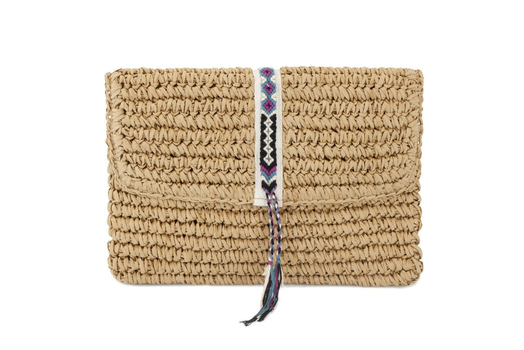 Straw Clutch Bag by Fallon + Royce