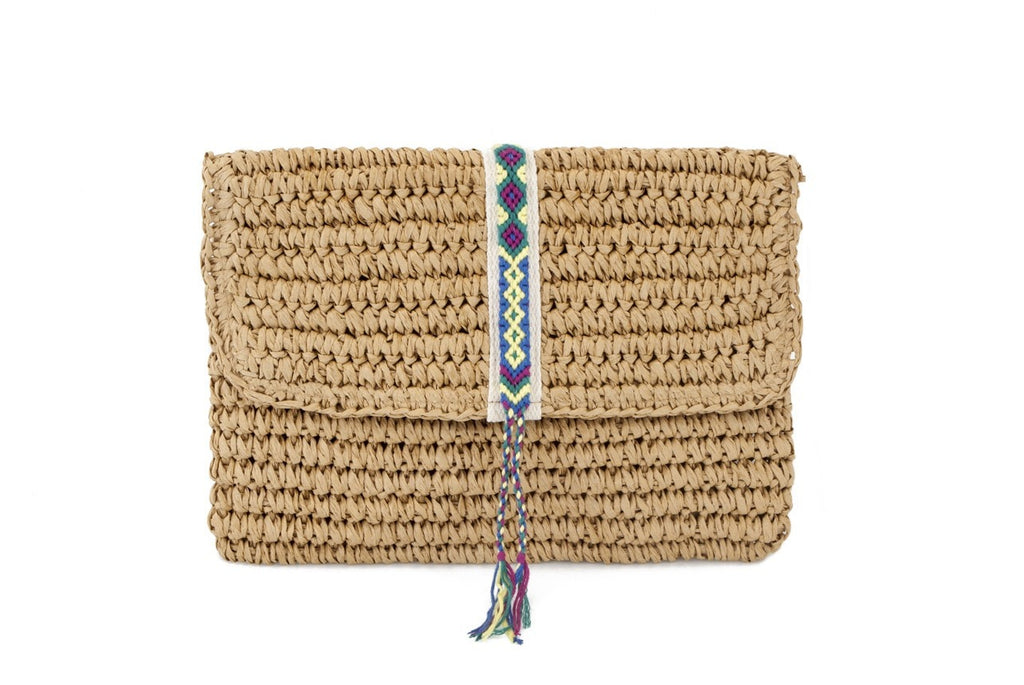 Summer Straw Clutch Purse by Fallon + Royce