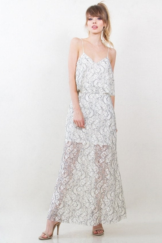 Sugar Lips Penelope Lace Maxi Dress