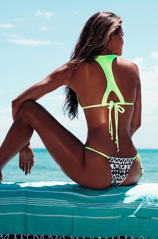 T Back Bikini Top - Designer Swimwear