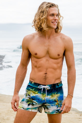 Luxury men's swim trunks