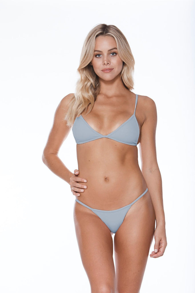 MGS Low Tide Grey Ribbed Bikini Set