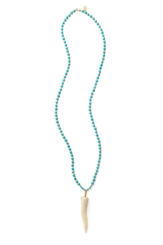 matte turquoise beaded necklace