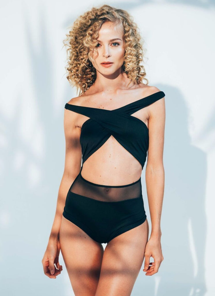 Del Mar Swimwear - Alayna Maillot | Black Luxury One Piece