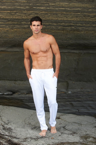 White French Terry Sweat Pants