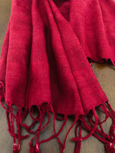 Load image into Gallery viewer, Handspun Eri silk  red