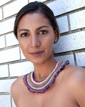 Load image into Gallery viewer, Zarina Crochet amethyst necklace