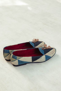 Loafers – Indigo & Olive Multi Triangle
