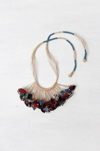 Handmade Textile Tie-up Necklace