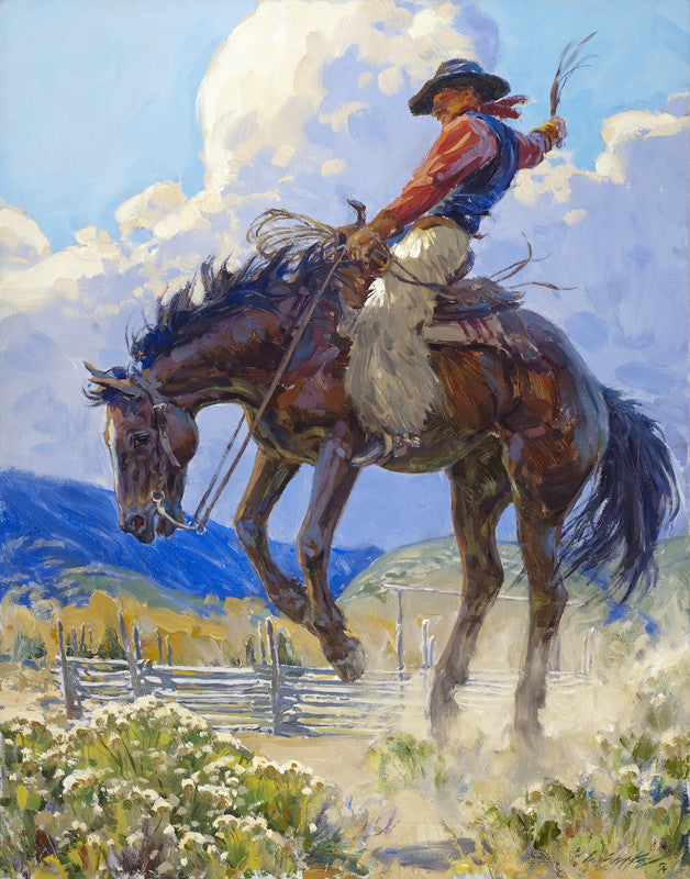 """Rocky Mountain High"" Western Art by Cowboy Artists of America's Loren Entz"