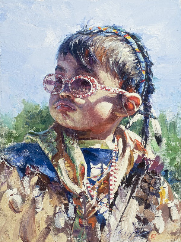 """Looking At Life Through Rose Colored Glasses"" Western Art by Cowboy Artists of America's Loren Entz"
