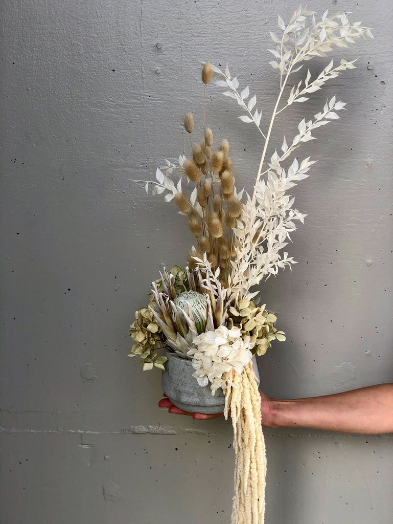 Dried arrangement in pot - Option 10