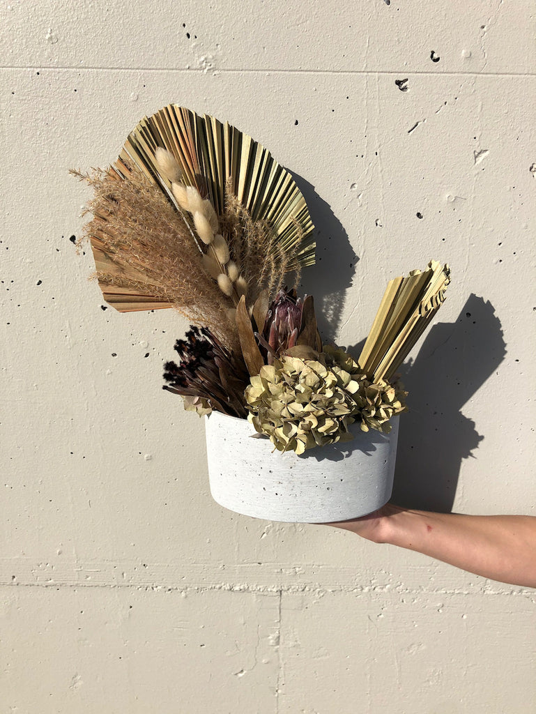 Dried arrangement in pot - Option 3
