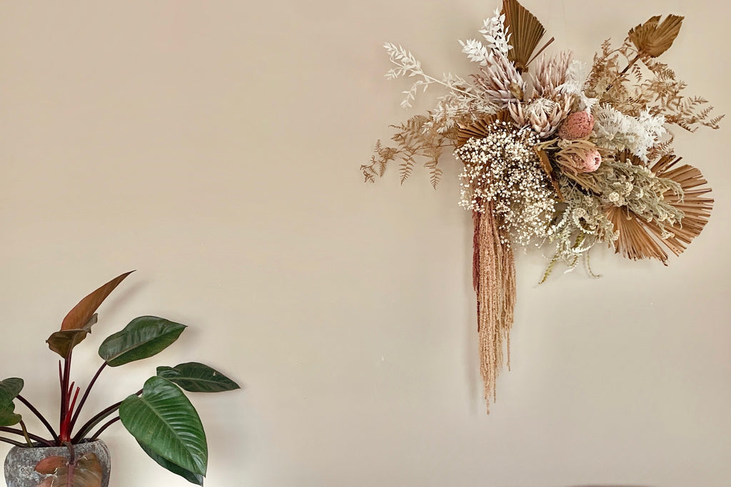 Dried wall arrangement - Option 2 - The Botanist Florist