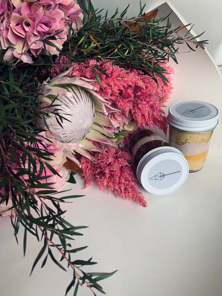 Mother's Day Bouquets & Cake Jar - The Botanist Florist