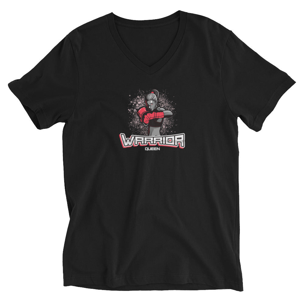 Warrior Queen Reloaded - Short Sleeve V-Neck T-Shirt