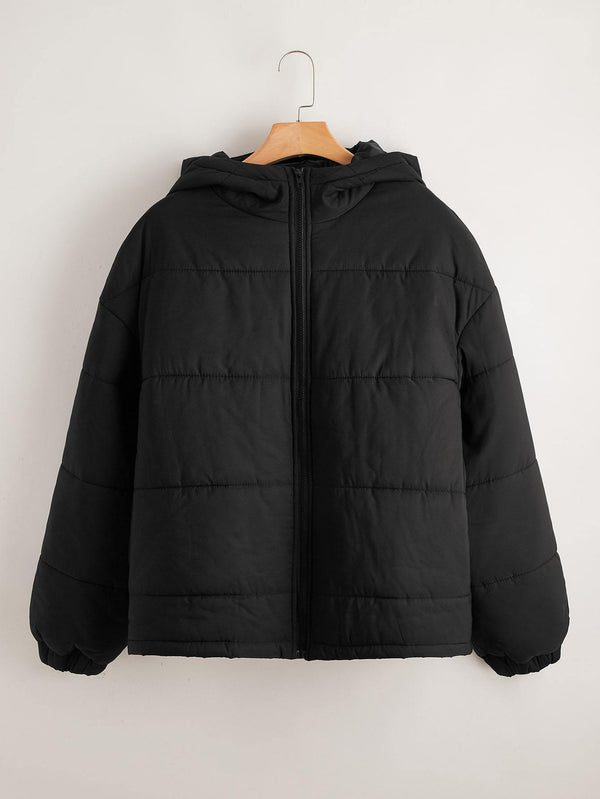 Plus Zip Up Hooded Puffer Jacket - 𝐄𝐑𝐔𝐌𝐉𝐔𝐒