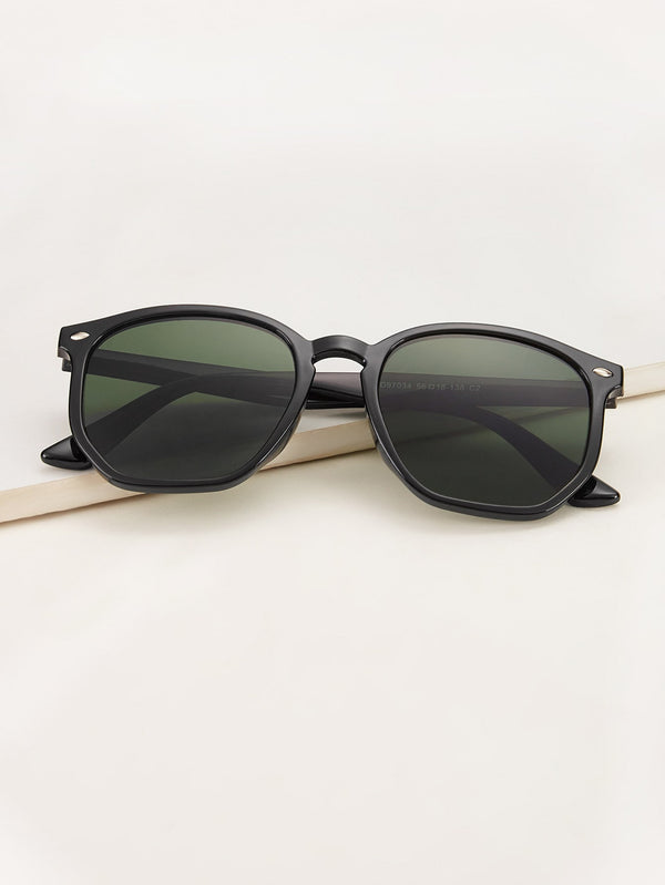 Rivet Decor Flat Lens Sunglasses - 𝐄𝐑𝐔𝐌𝐉𝐔𝐒