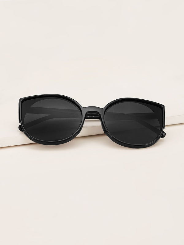 Plain Frame Flat Lens Sunglasses With Case - 𝐄𝐑𝐔𝐌𝐉𝐔𝐒