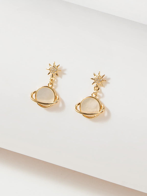 Premium Planet Drop Earrings - 𝐄𝐑𝐔𝐌𝐉𝐔𝐒