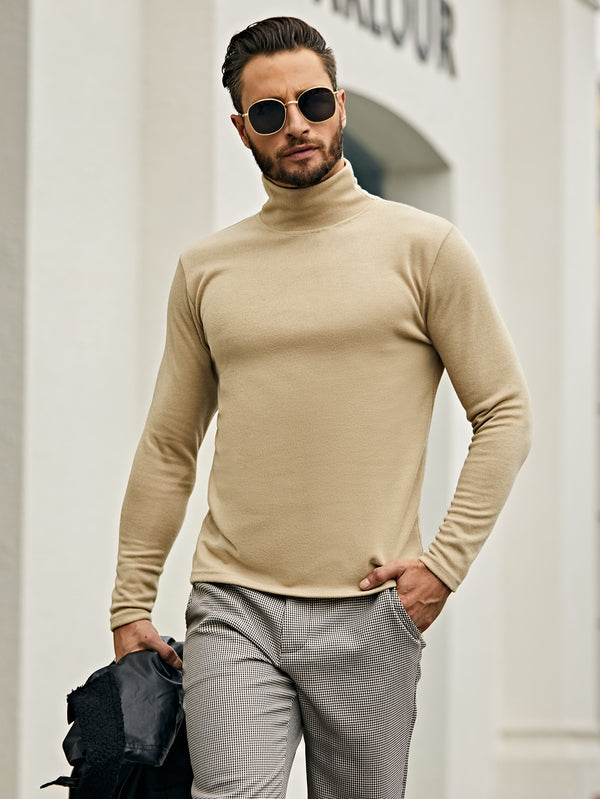 Classy Men Solid Turtleneck Sweater - 𝐄𝐑𝐔𝐌𝐉𝐔𝐒