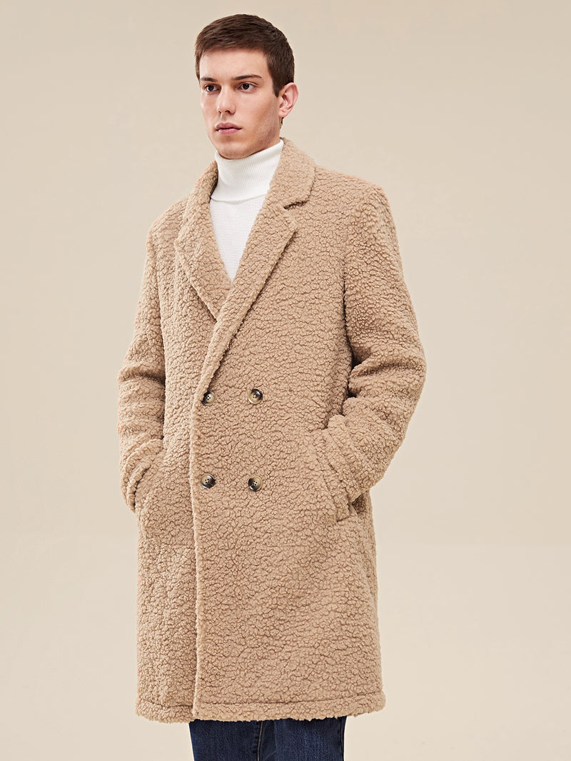 Double Breasted Teddy Coat - 𝐄𝐑𝐔𝐌𝐉𝐔𝐒
