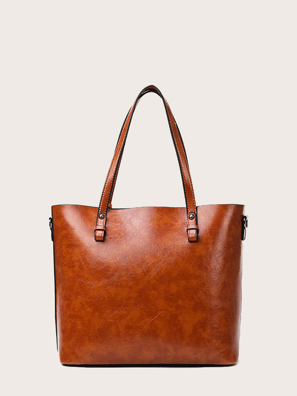 3pcs Minimalist Tote Bag With Purse - 𝐄𝐑𝐔𝐌𝐉𝐔𝐒