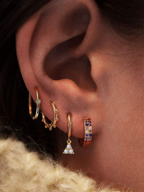 4pcs Rhinestone Decor Earring - 𝐄𝐑𝐔𝐌𝐉𝐔𝐒