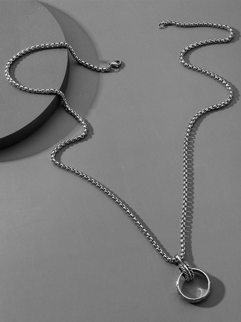 Classy Men Ring Necklace - 𝐄𝐑𝐔𝐌𝐉𝐔𝐒
