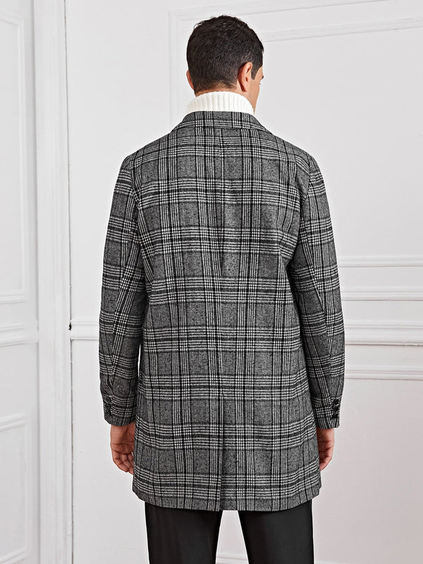Tartan Single Breasted Coat - 𝐄𝐑𝐔𝐌𝐉𝐔𝐒