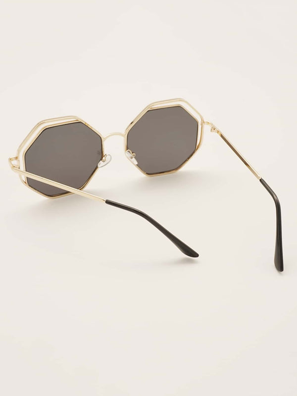 Double Metal Frame Sunglasses With Case - 𝐄𝐑𝐔𝐌𝐉𝐔𝐒