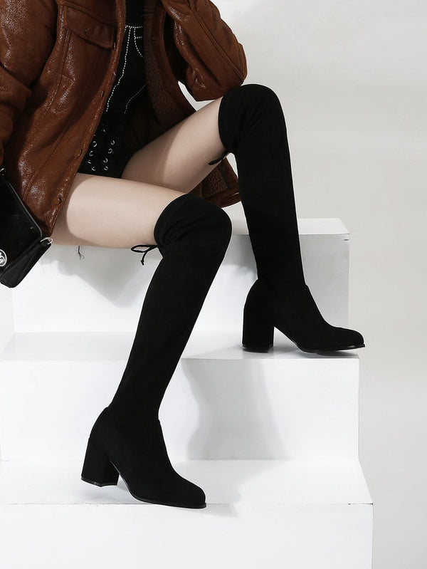 Over The Knee Chunky Boots - 𝐄𝐑𝐔𝐌𝐉𝐔𝐒