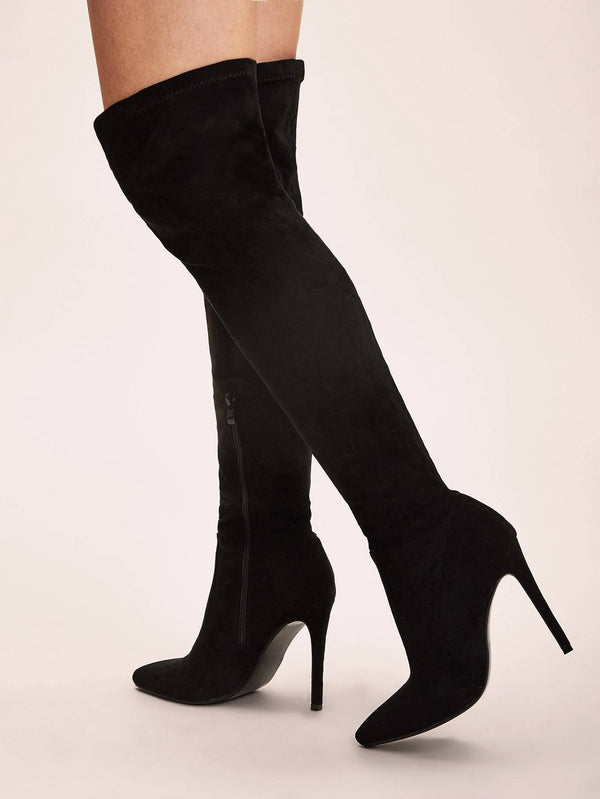 Point Toe Over The Knee Stiletto Boots - 𝐄𝐑𝐔𝐌𝐉𝐔𝐒